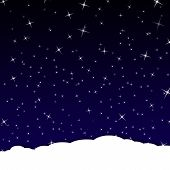 sky at night filled with star