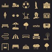Borough Icons Set. Simple Set Of 25 Borough Vector Icons For Web For Any Design poster