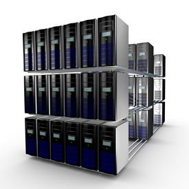 foto of supercomputer  - Several interconnected computer working together available through a network - JPG