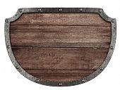 tabuleta medieval isolada no branco