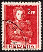 Postage Stamp Switzerland 1941 Colonel Joachim Forrer Of New St. Johann