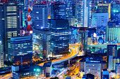 Cityscape of Osaka, Japan