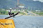 Water Ski In Action: Man Jump