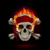 Skull in Flames