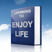 Enjoying Life Concept.