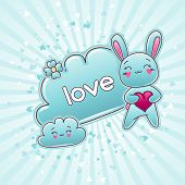 image of kawaii  - Cute child background with kawaii doodles - JPG