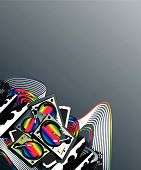 Turntable Music Rainbow Corner Design