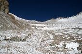 pic of aconcagua  - Ascending from Camp One to Camp Two on Aconcagua - JPG