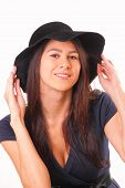 Attractive Woman In A Black Hat