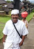 BALI - JANUARY 22. Balinese pilgrims at Mother Temple in Besakih on January 22, 2012 in Bali, Indone