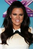 LOS ANGELES - DEC 19:  Khloe Kardashian Odom at the 'X Factor' Season Finale performances  show tapi