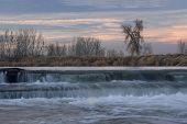 Small River Diversion Dam In North Eastern Colorado
