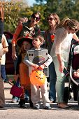 Kids In Costumes Get Ready For Halloween Parade