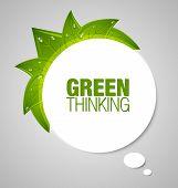 Green Thinking Bubble