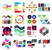 Set of geometrical infographic