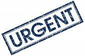 Urgent Blue Rectangular Stamp