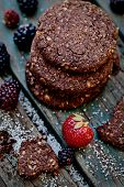 Oatmeal Chocolate Cookies With Fruit