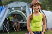 stock photo of tent  - Summer in the tent  - JPG