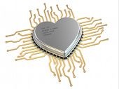 My favorite processor. Cpu as heart. 3d