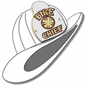 White Fire Fighters Helmet