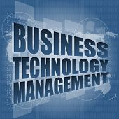 foto of triage  - Business technology management words on touch screen interface - JPG