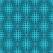 foto of bulge  - Seamless blue bulged stripes vector pattern - JPG