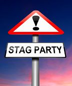image of bachelor party  - Illustration depicting a sign with a stag party concept - JPG