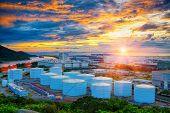 Oil tanks at sunset , hongkong tung chung