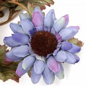 Artificial Blue Sunflower With Great Detail poster