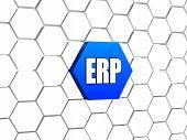 Erp Sign In Blue Hexagon
