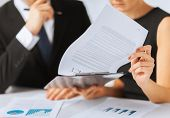 stock photo of contract  - business - JPG