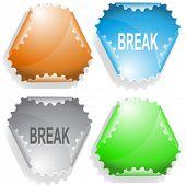 Break. Raster sticker. Vector version is in my portfolio.