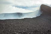 Top Of The Active Volcano In Guatemala
