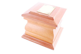 stock photo of urn funeral  - A cremation urn  - JPG