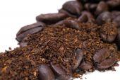 Frijoles y granos de café