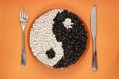 Yin Yang Black And White Beans