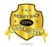 Money Back Guarantee Shield And Banner