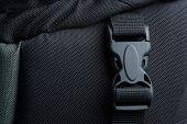 Black plastic buckle