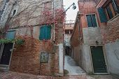 Very Small Internal Court (cortile) In Venice, Italy.