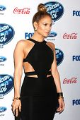 LOS ANGELES - FEB 20:  Jennifer Lopez at the American Idol 13 Finalists Party at Fig & Olive on Febr