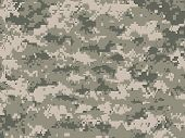 stock photo of camouflage  - Vector illustration of modern camouflage pattern in pixels - JPG