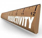 Productivity Ruler Measure Work Efficiency Learn Education