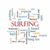 Surfing Word Cloud Concept