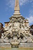 pic of obelisk  - Obelisk for the Pantheon on Piazza Rotonda Rome Italy - JPG