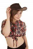 Cowgirl Hat Plaid Shirt Twist