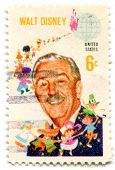 USA - CIRCA 1980: Stamp printed in United States of America showing Walt Disney and Children of the World, circa 1980