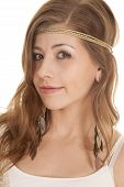 Woman Headband Close Side Turn