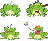Happy Frogs Characters. Set Collection