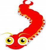 Cute centipede cartoon