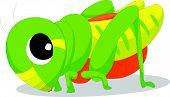 Cute locusts cartoon